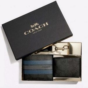 NIB Men's Coach Wallet Three Piece Gift Set